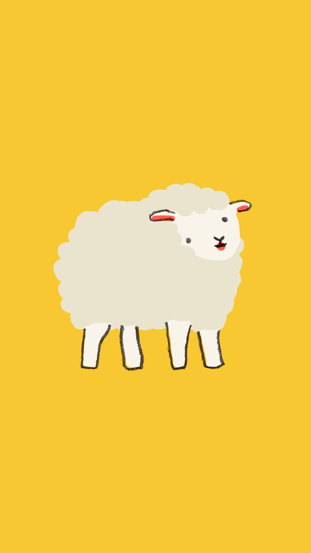 White Sheep Wallpaper